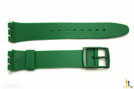 17mm Men's Dark Green Replacement Watch Band Strap fits SWATCH watches - $10.95