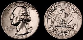 1958-D Washington Quarter-Choice Gem Brilliant Uncirculated Luster  2020... - $15.59