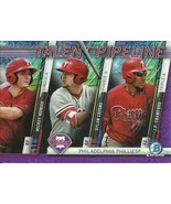 2017 BOWMAN CHROME MEGA BOX MOJO PIPELINE MONIAK COZENS CRAWFORD PURPLE ... - $6.64
