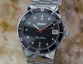 Orient King Diver 34mm Hand-Wind Stainless-Steel w/Date, c.1970s Vintage YY52 - $959.36