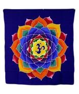 PAGAN/SPIRITUAL flower of life BATIK Drop Banner/wall hanging.110x98cm - $47.78