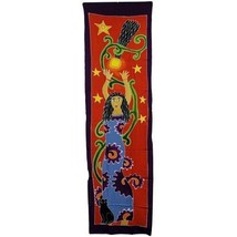 PAGAN/SPIRITUAL Star Goddess BATIK Drop Banner/wall hanging.188x54cm - $43.80