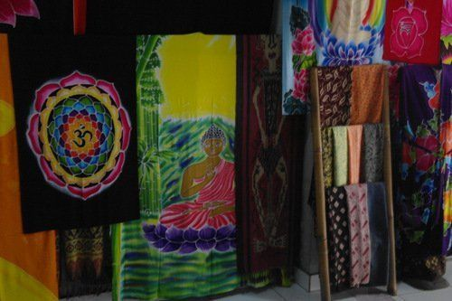 PAGAN/SPIRITUAL RAINBOW BATIK Drop Banner/wall hanging.183x35cm