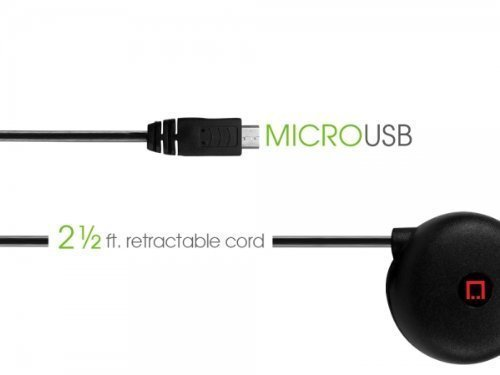 """Professional Retracatble Micromax A27 Ninja Car Charger with """"""""One-Touch"""""""" ra... image 5"""