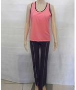 New Women's Sport tight leggings pants Gym Workout Gray & Salmon w match... - $16.83