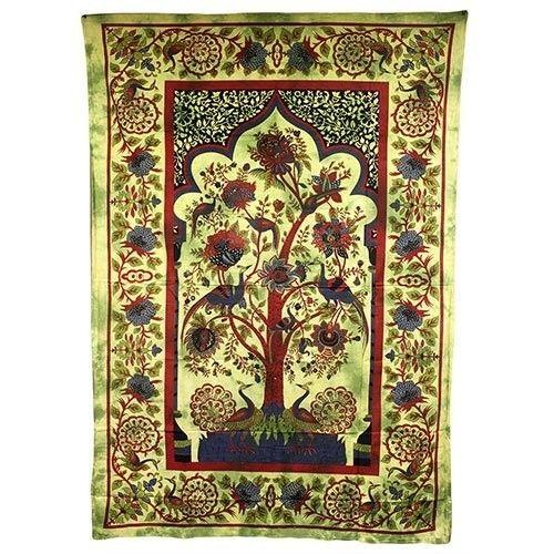 PAGAN/SPIRITUAL ICONIC TREE OF LIFE -GREEN wall hanging.