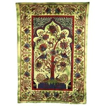 PAGAN/SPIRITUAL ICONIC TREE OF LIFE -GREEN wall hanging. - $39.79