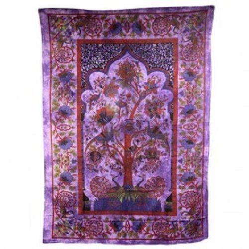 PAGAN/SPIRITUAL ICONIC TREE OF LIFE -PURPLE wall hanging.