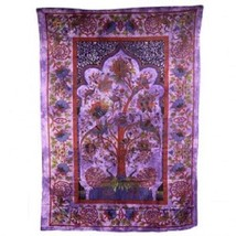 PAGAN/SPIRITUAL ICONIC TREE OF LIFE -PURPLE wall hanging. - $39.79