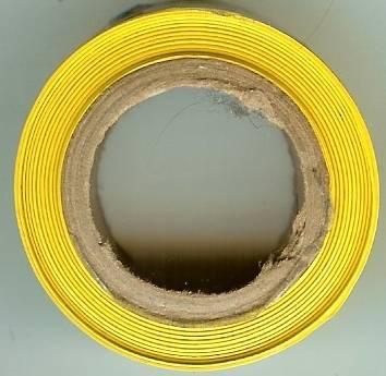 caution tape mini role yellow 1 inch wide rare promo item