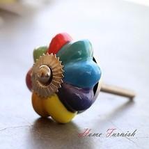Lot Of 50 Multi Color Ceramic Knob Drawer Pull Cabinet Handle Door Dresser Knobs - $83.66