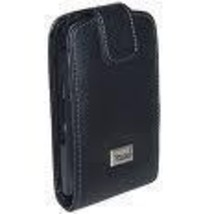 BlackBerry 8900 Curve black leather fitted case - $7.65
