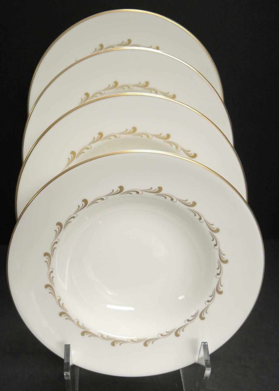 Four Royal Doulton Rondo Pattern Rimmed Soup Bowls