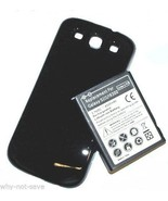 replacement extended battery and back cover for Samsung Galaxy S3 SIII G... - $32.98