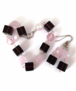 Purple and Pink Bracelet and Earrings Set - $16.90+