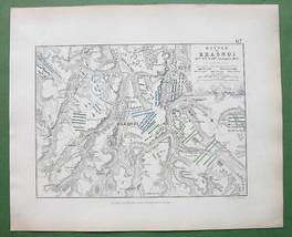 1848 Fine Quality Map - RUSSIA Krasnoy & Environs + Napoleon Battle of 1812 image 1