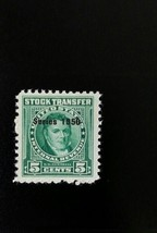 1950 5c U.S.A. Internal Revenue Stock Transfer, G.W. Campbell Scott RD31... - $3.56