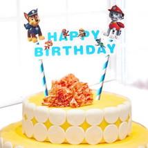 CAKE TOPPER PAW PATROL CARTOON THEME . BIRTHDAY PARTIES- FAST SHIP - $5.88