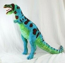 "Melissa & Doug Jumbo Dinosaur T-Rex Green and Blue Plush 26"" #2149 Stuff... - $19.99"
