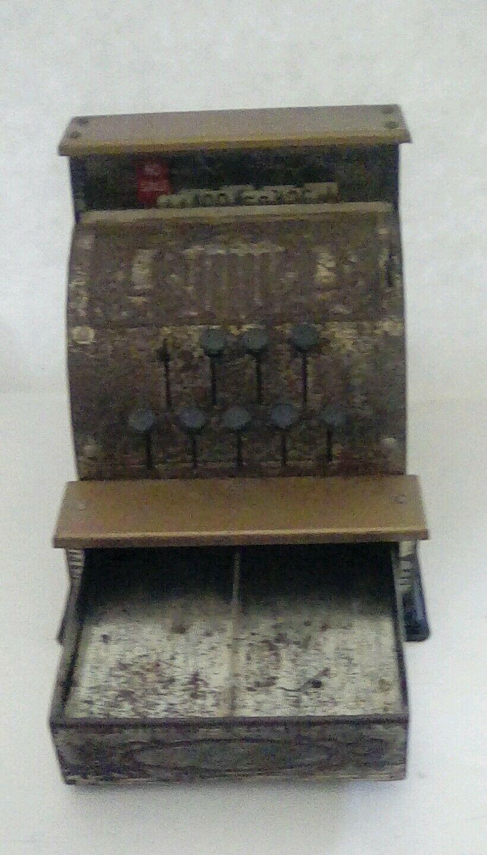 Vintage Benjamin Franklin Metal Toy Cash Register made by Vanguard Industries