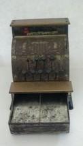 Vintage Benjamin Franklin Metal Toy Cash Register made by Vanguard Industries image 1