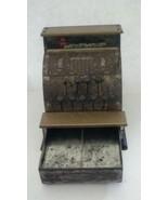 Vintage Benjamin Franklin Metal Toy Cash Register made by Vanguard Indus... - $31.42
