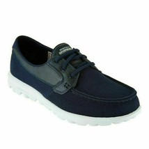 Skechers On The Go Go Walk Seaside Women Boat Shoes Navy Blue - $39.94