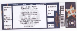SEATTLE MARINERS @ HOUSTON ASTROS 8/29/13 Box Office Ticket Stub! - $3.36