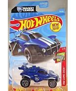 2019 Hot Wheels #92 HW Game Over 1/5 OCTANE Rocket League Blue w/Gray 5 ... - $7.92