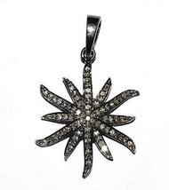 Shining Spark design pendant with champagne diamond 925 silver pendant SP0361 - $61.95