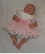 Preemie Girls Soft Pink Cotton Lace Dress and Diaper Cover - $30.00
