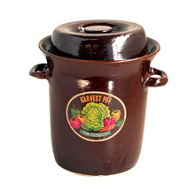 Harvest Festival Series Stoneware Fermenting Pot - Czech Republic ~ Dark... - $149.00+