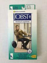 JOBST 113116 Men 20-30 mmHg Firm Casual Knee High Support Socks - Black ... - $29.39