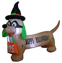 4 Foot Long Lighted Halloween Inflatable Dog Yard Art Decoration - £42.15 GBP