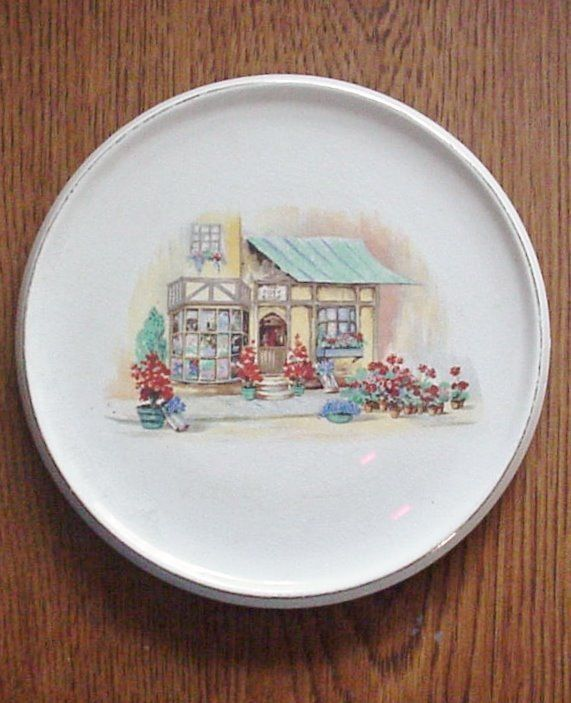 Antique English Ware Lancaster Plate Cottage Scene - $18.76