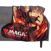Bioworld Magic: The Gathering Planeswalker Nicol Bolas 48x60 Fleece Thro... - $27.12