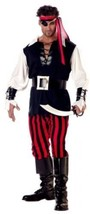 California Costumes Men's Adult-Cutthroat Pirate, Black/Red/White, L (4... - $34.87