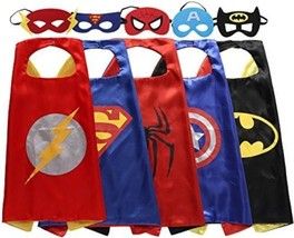 Zaleny Superhero Dress Up Costumes 5 Satin Capes With Felt Masks - $47.61