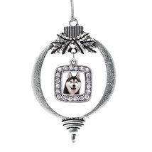 Inspired Silver Husky Face Classic Holiday Ornament - $14.69