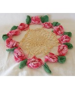 Very vintage rose crochet doily - $5.99