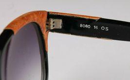 Vintage Mujer Negro Emmanuelle Khahn Avestruz Cuero 8080 16 OS Gafas de Sol image 4
