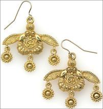 Minoan Bee Earrings 24k Goldplated Dangle Earrings Bee Dangle Goldplate ... - $58.00