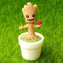 Tree Stump Gnome Sprite Flower Pot Miniature Groot Fairy Garden Terrariu... - $8.99