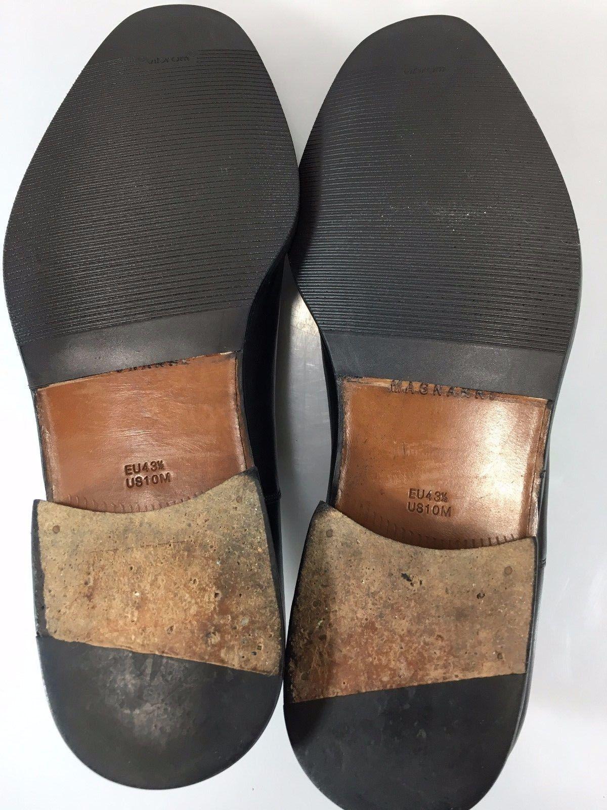 magnanni mens 10m 43 5eu black leather cap toe oxfords