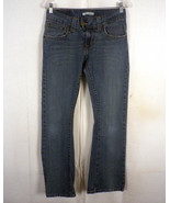 euc Levis 542 ladies low flare Stretch Denim Jeans flap pocket 6 M 30 X 31 - $30.51