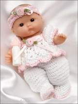Itty Bitty Babies, Baby Doll Clothes Thread Crochet Patterns Dolls   See Pics - $27.67