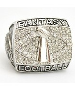 Fantasy Football Championship Ring Trophy - Silver Size 10-11 - $26.73
