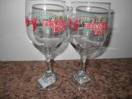 NEW WINE GOBLETS SET OF 2 DONT GET YOUR TINSEL IN A TANGLE FUN - €8,44 EUR