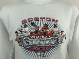 2004 World Champions Boston Red Sox MLB White Sweatshirt Hoodie M - $16.83