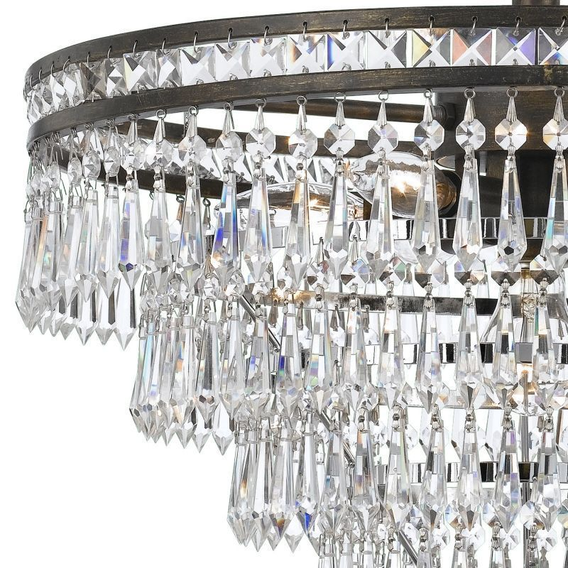 Primary image for RH Style 1920s Odeon Clear Glass Crystal Round Chandelier $1500